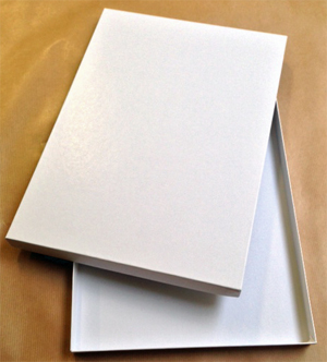 10 white neutral boxes PACK for keeping photos<br>Size : A4 (thickness 30mm)