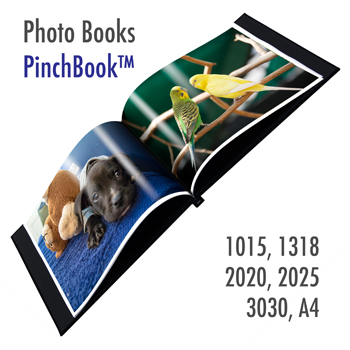 PinchBook - 2 Photo Book Cover (Grey cloth)<br>Size : 13x18cm