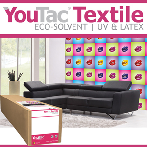 <b>IYT102</b>-YouTac Adhesive Textile ES 300gsm<br>30 inches roll (762mmx30M)