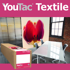 <b>IYT101</b>-YouTac Adhesive AQ Textile 280gsm<br>17 inches roll (432mmx30M)